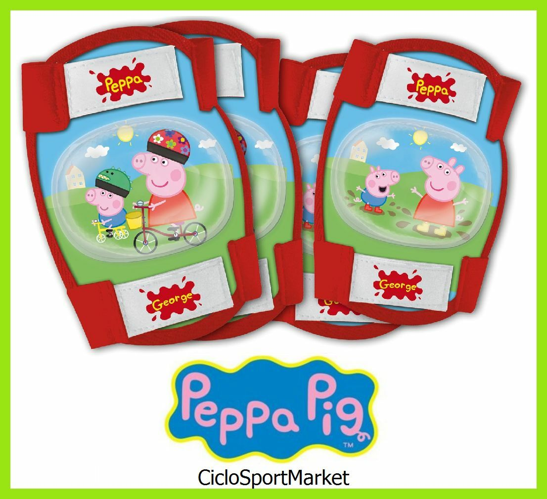 Kneepads Elbow for girls bike   Little girl  Peppa Pig