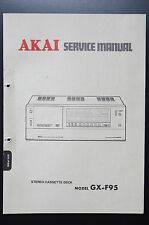 AKAI GX-F95 Original Service-Manual/Service-Anleitung/Schaltplan!