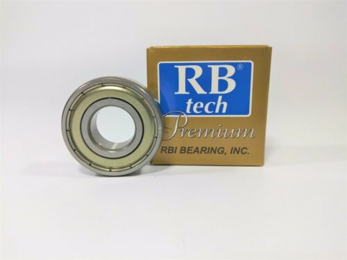"RBI 1621 ZZ RB TECH PREMIUM SINGLE ROW BALL BEARING 1//2x1-3//8x7//16/"""