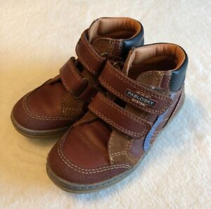 Pablosky-Boys-Boots-EU-28-Brown-Leather-Quality-Comfort-Double-Strap