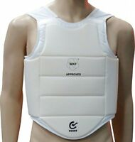 Wkf Approved Karate Chest Guard Martial Arts Body Armour Protector Adults