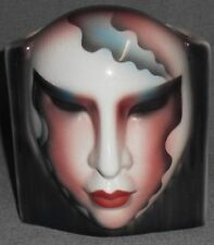 Clay Art ABOUT FACE Ceramic FACE VASE San Francisco NICE!
