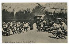 Catholic Mass in the Countryside CAPE VERDE Antique PC San Vincente Cabo 1910s