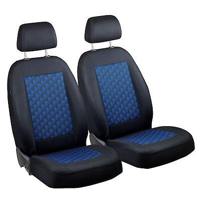 Schwarz-blau Effekt 3D Sitzbezüge für OPEL MERIVA Autositzbezug VORNE