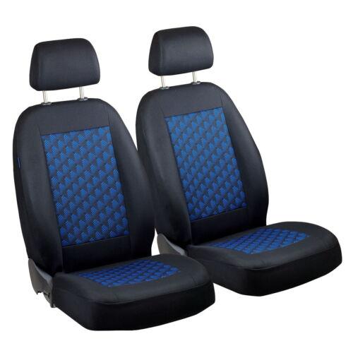 Schwarz-blau Effekt 3D Sitzbezüge für PEUGEOT 106 Autositzbezug VORNE