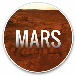 2-x-Vinyl-Stickers-7-5cm-Mars-Planet-Space-NASA-Cool-Gift-8223