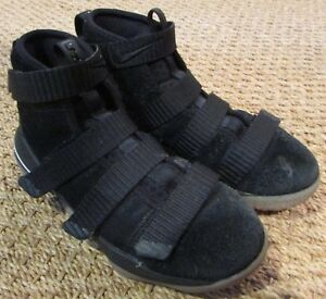 032401e69912 2017 Nike Lebron Soldier XI Sneakers Black PS Pre School Sz 1Y ...