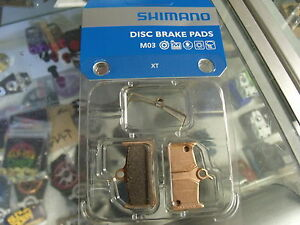 Metal New Shimano M03 Metal Disc Brake Pads and Spring for XT BR-M755 Calipers