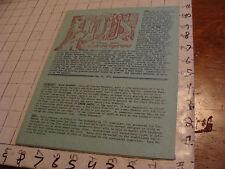 vintage Original SF Zine: LOCUS #84 May 25, 1971--Charlie & Dena Brown--9 pgs