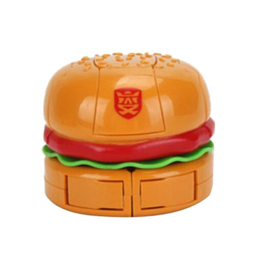 Hamburger Robot Action Figure Transformation Toy for Kids Boys Funny Toys