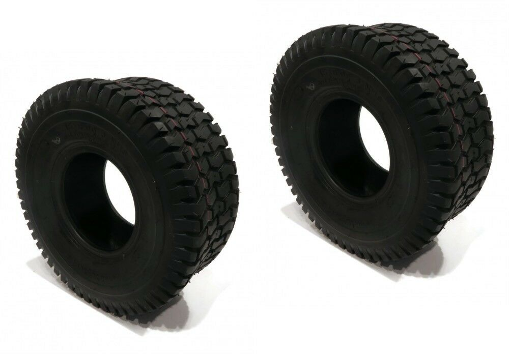 (2) New 15x6.00-6 TURF TIRES 4 Ply Tubeless Husqvarna Ariens Lawn Mower Tractor