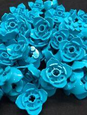 LEGO NEW 18 Round 4 Petal Crown Flower 2x2x2//3 Azure Blue 15469 Teal Bulk X 10