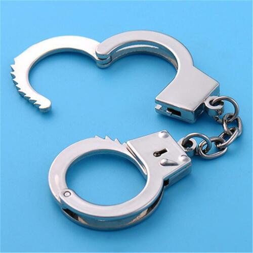 Innovative Gift Stylish and Realistic Handcuffs Shape Metal Key Chains Car Waist