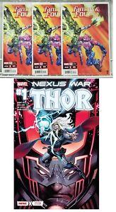 3 copies Fantastic Four #24 FORTNITE/THOR/BLACK WINTER CROSSOVER NEXUS WAR #1!!!