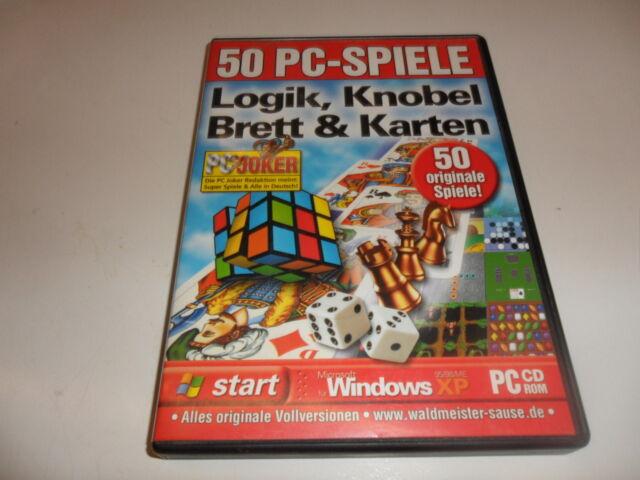 PC  50 PC-Spiele Logik, Knobel, Brett und Karten