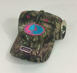 Mossy Oak Womens Camo Hat NWT Green Pink Blue One Size Fits Hunting ... 04386df890a