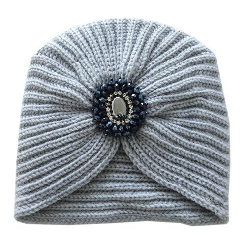 Damen Winter Mütze Strickmütze Wollmütze mit Deko Strass Perlen Pailetten BD-220