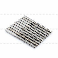 10Pcs 3.175mm 22mm Double Two Flute CNC Carbide Spiral End Mill Router Bit tool