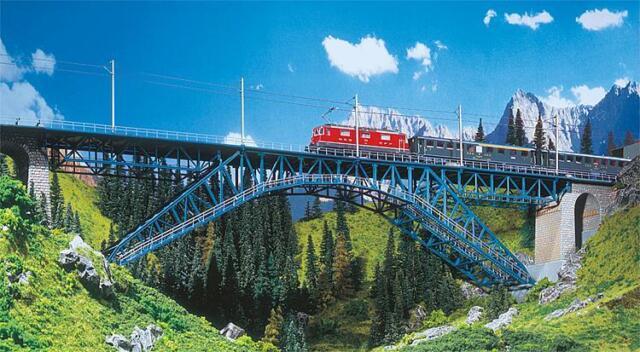 Faller 120535 ESCALA H0 Puente bietschtal # NUEVO EN EMB. orig. #
