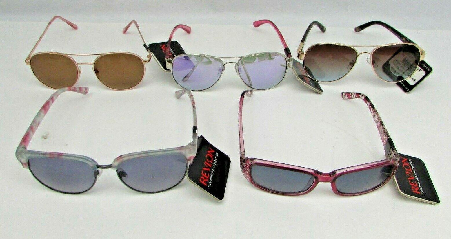 5 Revlon Women's Sunglasses, Assorted Lot #2, see description, NEW