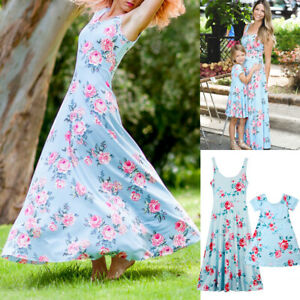 b69ee2ae44 Mommy and Me Family Matching Dress Mother Daughter Floral Holiday ...