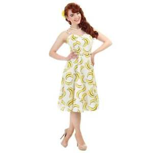 Zak Collective 8 Dress Banana Cream anni Aida '50 Swing 22 Simona Vintage Sz ad5Fn