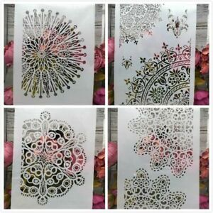 Vintage Floral Stencils Scrapbook Coloring Embossing Album Decoration Templates