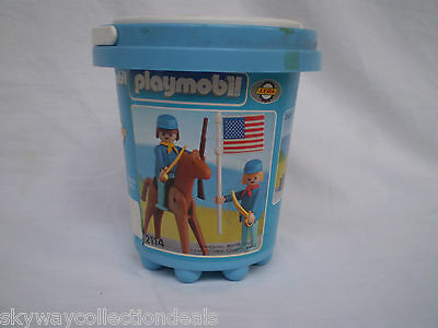 RARE- 1978 Greek LYRA PLAYMOBIL 2114 WESTERN, NORTH SOLDIERS !MINT BEACH BUCKET
