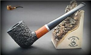 HAND-MADE-WOODEN-TOBACCO-SMOKING-PIPE-BRUYERE-no-71-Rustic-Briar-BOX