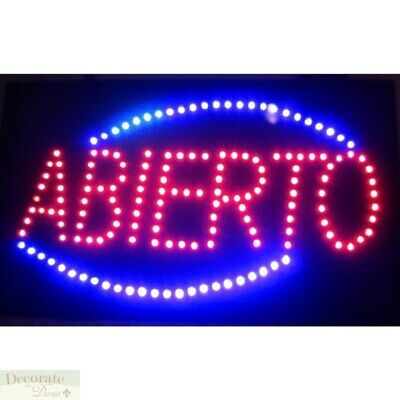 """THE BAR IS OPEN Motion LED Sign 26/"""" Lights Hang Wall Window Indoor Warranty New"""