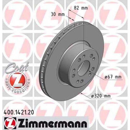 2 Zimmermann Bremsscheiben Mercedes W140 C140 S-Klasse  320mm belüftet vorne