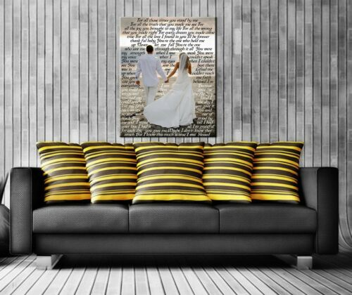 Gallery Wrapped Ready to Hang  ! Wedding Custom Photos Print on Canvas