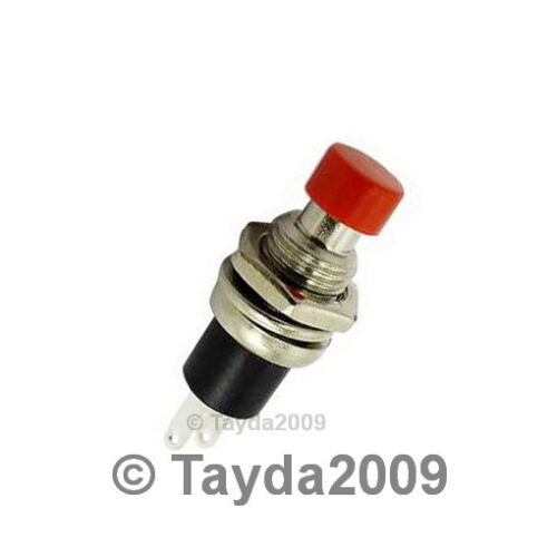 3 x MOMENTARY PUSH BUTTON SWITCH DC 50V 0.5A RED KNOB