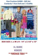 Ken Fashion X4886 - Gift Set - Contents 1 Ken Doll and  3 Outfits