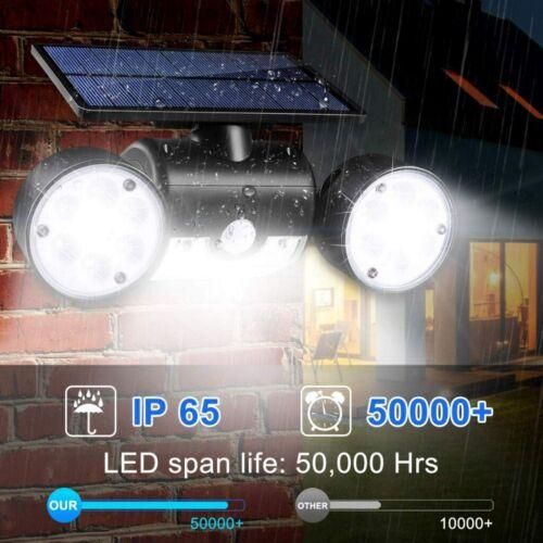 LED Solarlampe Solarleuchte Außen Solarstrahler mit Bewegungsmelder Licht DHL DE