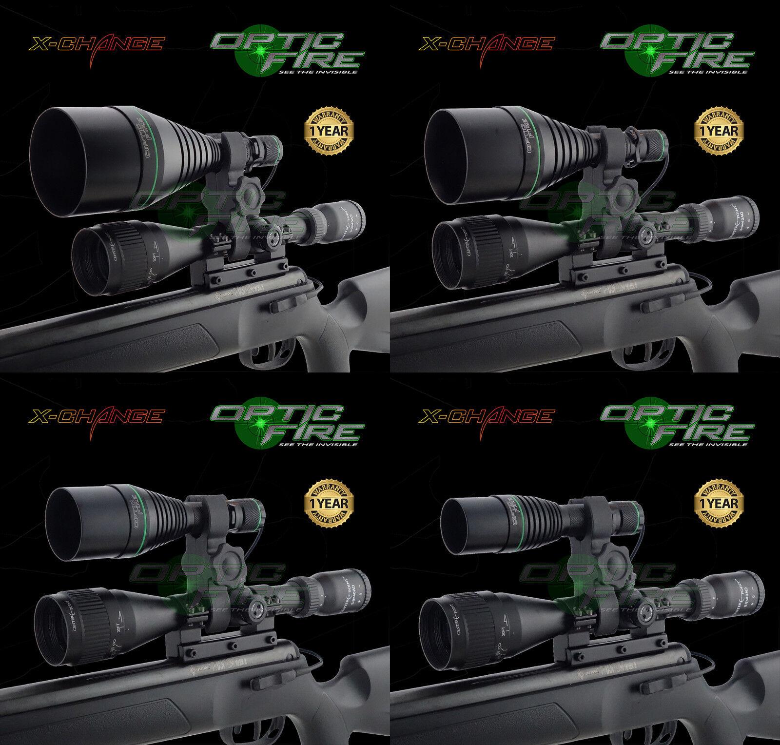 Opticfire® XS High power Hunting torch LED NV gun light scope mount lamping lamp