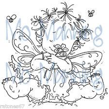 New Stampavie BABY FAIRY FLORA Mo Manning Clear Stamp Flower Garden Child Toes