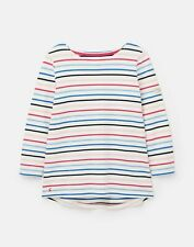 Joules 209041 3/4 Length Sleeve Jersey Striped Top in MULTI STRIPE