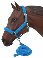 Fuzzy Horse Halter And Lead Set - 6 Colors Available