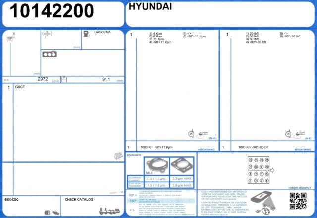 Genuine Hyundai 22311-39000 Cylinder Head Gasket