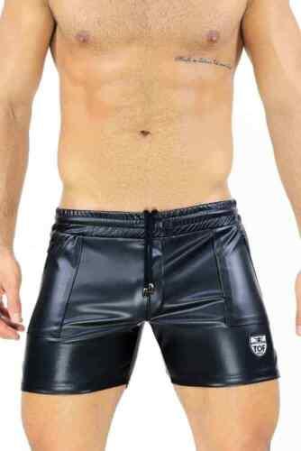 TOF Paris Mens Leather Sports Shorts