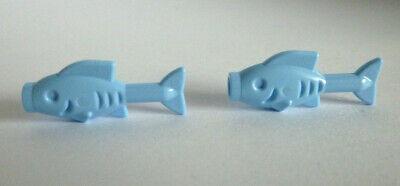 2 x LEGO® 64648 City,Tier,Fisch,Goldfisch in hell blau Neuware