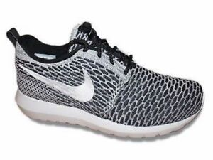 Image is loading Nike-Flyknit-Rosherun-Beethoven-Black-White-Grey-677243- 05c747a05