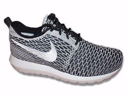 Nike Flyknit Rosherun Beethoven Black White Grey 677243 008 US 9 Roshe Run
