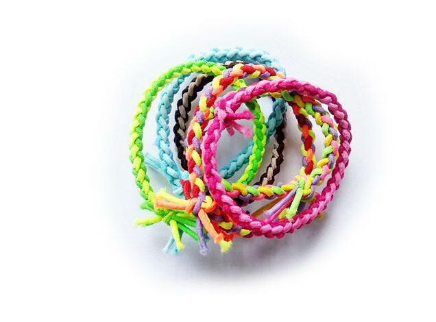 5PCS Elastic weaving Knot Rubber Band Hair Tie Hairband Ponytail Holder  HOAU