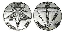 Prop Lucifer Coin Morning Star TV Show Prop Coin 35mm x 2mm Solid Metal 3D