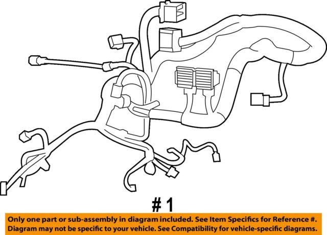 jeep chrysler oem-engine control module ecm pcu pcm wiring harness  68030055aa