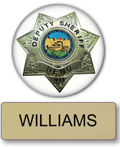 Image is loading RENO-911-WILLIAMS-NAME-BADGE-&-DEPUTY-3-  sc 1 st  eBay & RENO 911 WILLIAMS NAME BADGE u0026 DEPUTY 3