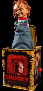 Juego de niños Jack-in-the-Box novia o Chucky Burst-a-Box cicatrices _ 78187 _ MEZCO _ nunca quitado de la caja