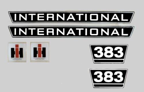 Emblema de la etiqueta engomada internacional 383 tractor IHC MC Cormick